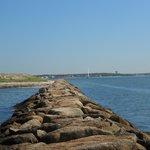 Sea Wall - picture taken on Kalmus Beach
