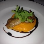quail and carrot purée!