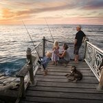Sunset fishing on our jetty