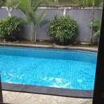 Swimming pool from room