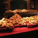 Mounds of bread rolls and croissants! Breakfast buffet, Cheyenne.