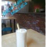 Delish!! Shake with vanilla ice cream, coconut flesh and coconut water...
