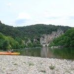 départ des canoes du camping