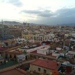 rooftop view towards sagrada familia