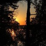 Le lever du soleil vu de la terrasse de la chambre