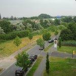 Blick aus dem Fenster - Hotelzufahrt