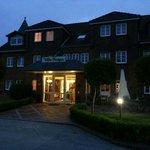 Die Villa Kröger in den Abendstunden...