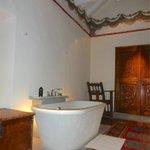 Bathroom in balcon suite