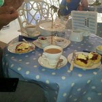 Delicious cream tea at Coast Cafe
