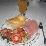 Un exemple du petit déjeuner.