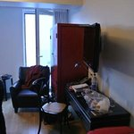 Just about the total area of free space in double room + full height opening window
