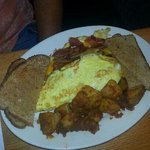 Bacon and egg omlette