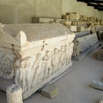 Sarcophagus and architectural exhibits