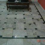 Marble floor in room