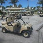 Our golf cart!