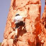 rock climbing in Garden of the Gods