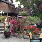 Patio area at Seacliff Inn