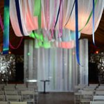 The decorated performance space, for my wedding.
