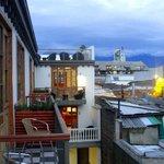 Vista dos Andes da varanda do quarto 305