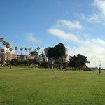 Public park area across from Pantai Inn