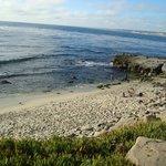 The beach across the street from the Pantai Inn