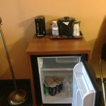 Nice refrigerator and coffee center