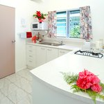 Beachfront 1 bedroom bungalow kitchen