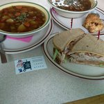 Home made smoky veggie tri-tip soup