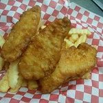 beer battered cod sooo yummy
