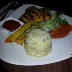 Chicken Fillet Steak with rice