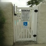 Notice access to pool at top of gate - too high