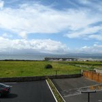 Galway bay over the car park from the room