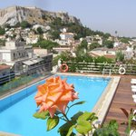 View of Acropolis from the pool