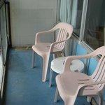 "Enclosed ""patio"" off of room"