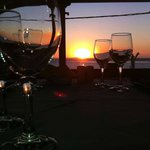 Sunset from Mythodea Restaurant Naxos