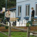 the boys loved the outdoor chess!