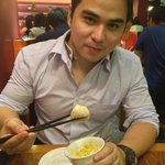 BF enjoying his Xiao Long Bao