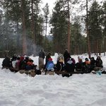 Winter Fire Circle is a great place to meet up