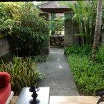 Our beautiful garden and veranda, very private