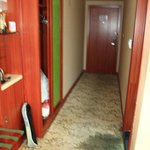 Badly stained carpet with soaked areas due to water leakings