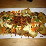Special of the day:: pan fried loaded potatoes