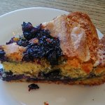 Blueberry cornbread pie