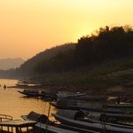 Boats on the riverside in Luang Phrabang