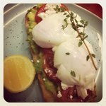 F.A.T. With poached eggs