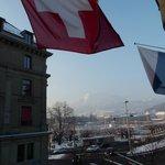 Mt. Pilatus und Luzerner See - Zimmeraussicht