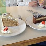 coffee and white chocolate, triple chocolate deserts!