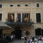 the view from my chair. It was a choir practising and sounded so wonderful
