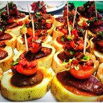 pincho with chorizo