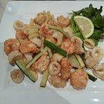 Calamari, Prawns and Zucchini Fritti...YUM!