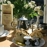 A Great Place For A Fresh Scone Homemade Jam of the Week...Try our Crab or Poached Salmon Salads